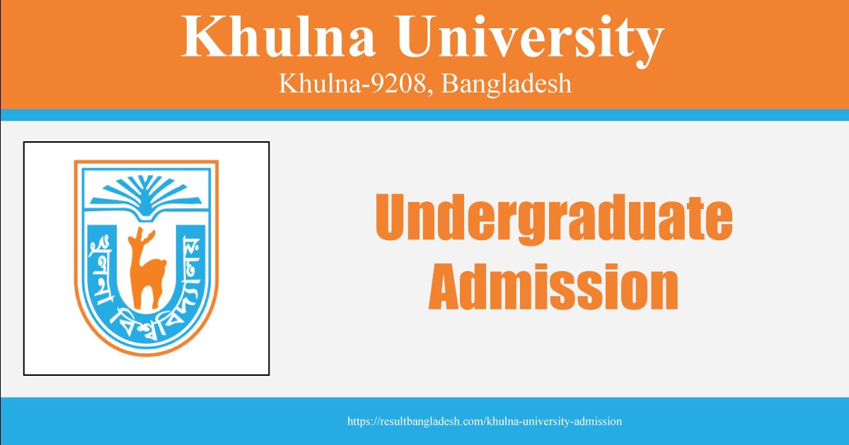 Khulna University Admission