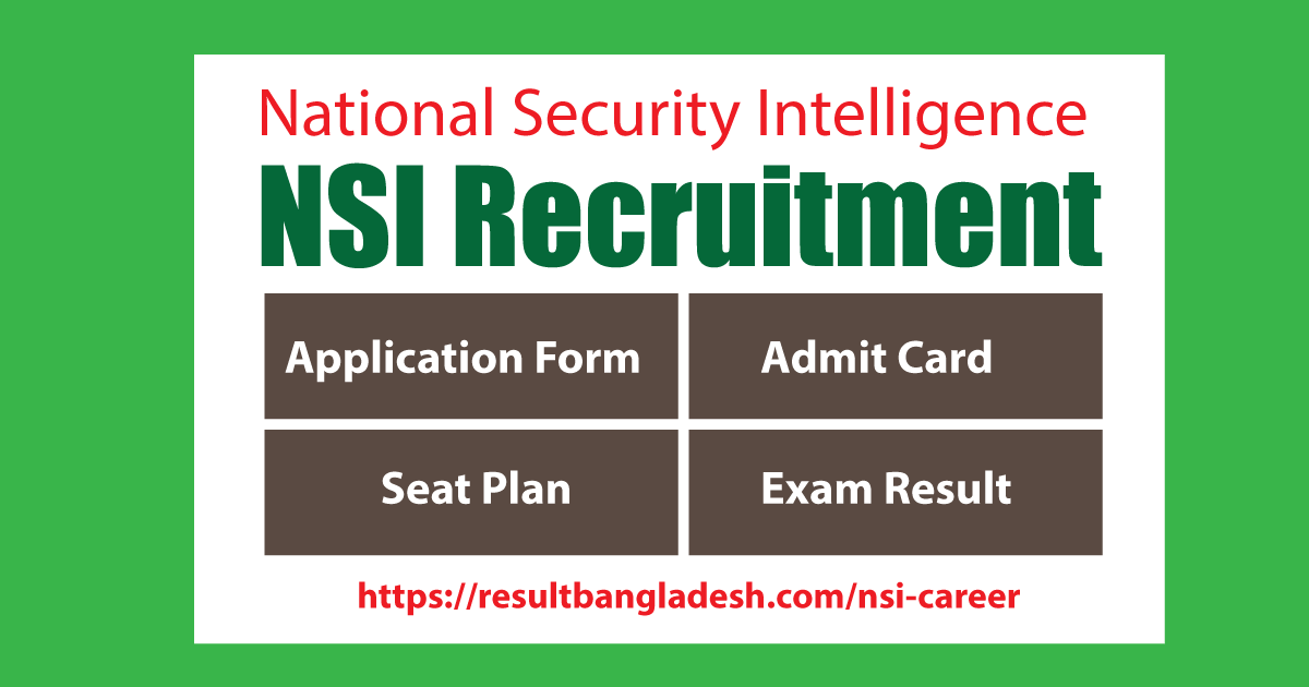 NSI Admit Card 2021 Exam Result