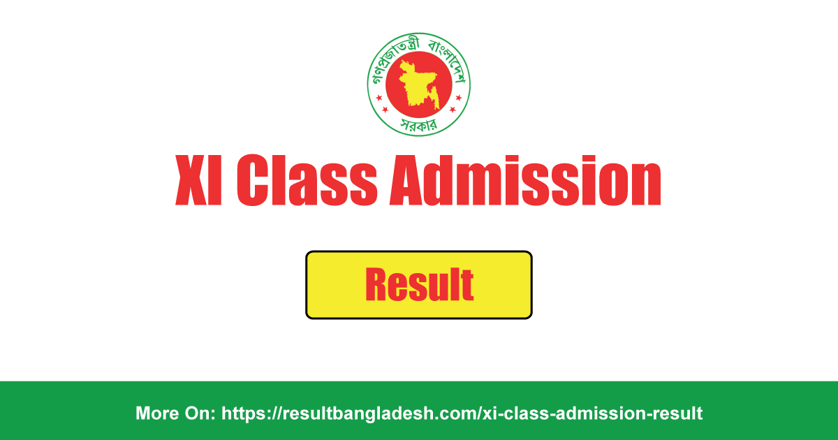 XI Class Admission Result Bangladesh