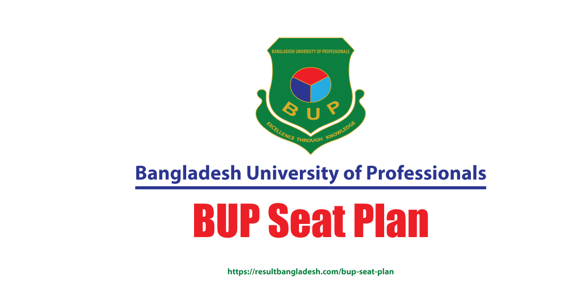 BUP Seat Plan