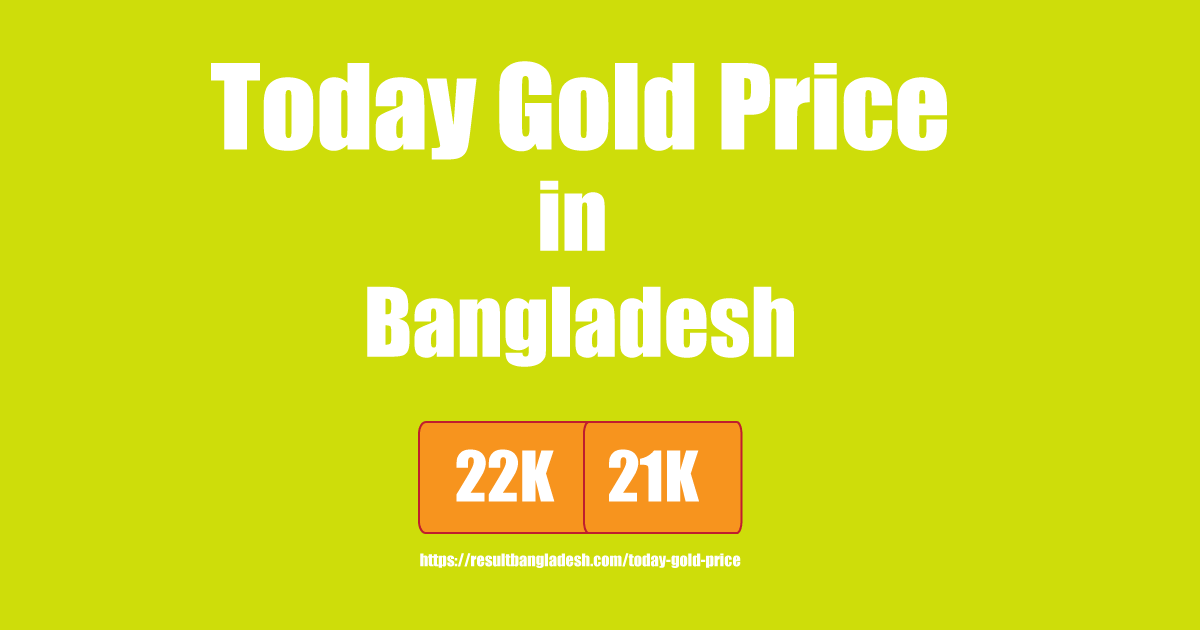 Today Gold Price in Bangladesh