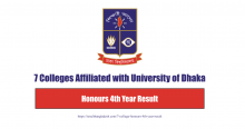 7 College Honours Fourth Year Result