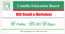 Comilla Board HSC Result and Marksheet