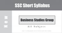 SSC Business Studies Short Syllabus
