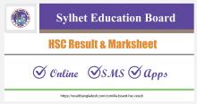 Sylhet Board HSC Result and Marksheet