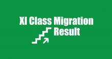 XI Class Migration Result 2020