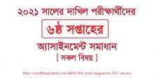 Dakhil 6th week Assignment 2021