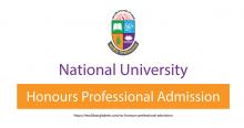 NU Honours Professional Admission