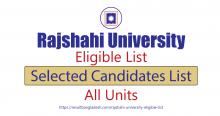 Rajshahi University Eligible List