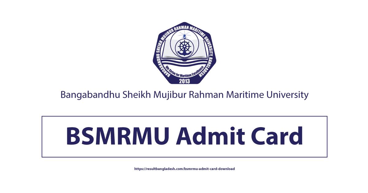 BSMRMU Admit Card