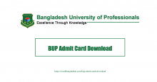 BUP Admit Card Download