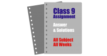 Class 9 Assignment Answer Solution