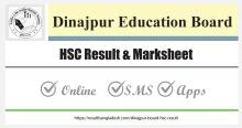 Dinajpur Board HSC Result Marksheet