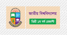 NU Degree 1st Year Result 2020