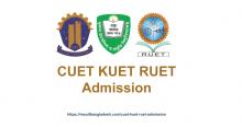 CUET KUET RUET Admission