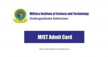 MIST Admit Card